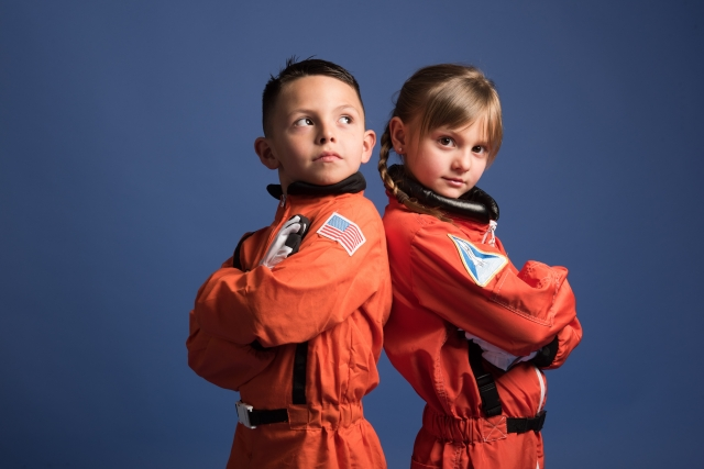 将来の夢・なりたい職業は宇宙飛行士だという兄妹